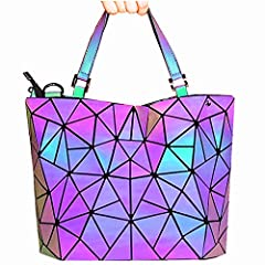 This is A Unique Purse and Handbags,A Reflective Luminous Purse,A Holographic Purse.                Color Will Changes When Light Hitting,Totally Different in the Day and Night.                       Geometric Shard Lattice Design,Made...