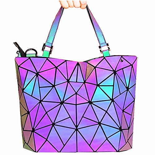 HotOne Geometric Purse Holographic Purse and Handbag Color Changes Luminous Purse For Women from Obvie