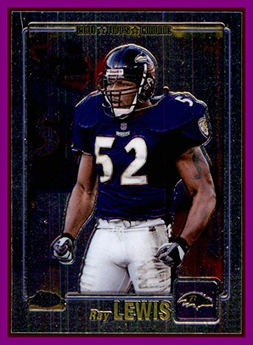 2001 Topps Chrome #130 Ray Lewis BALTIMORE RAVENS Miami Hurricanes - 2001 Miami Hurricanes Football