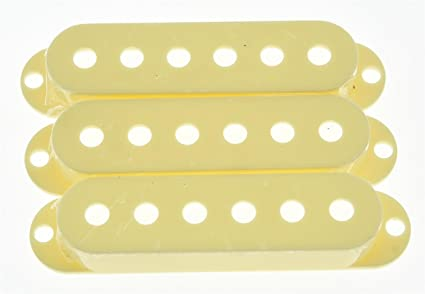 White ,Qty 3 pieces 2-1//16/'/' Single Coil Strat Pickup Cover 52mm