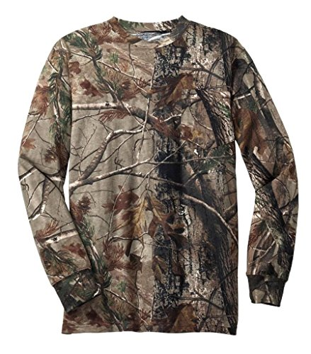 WearDgo Licensed Realtree AP Camo T-shirts - Long Sleeve - Pocket - XL