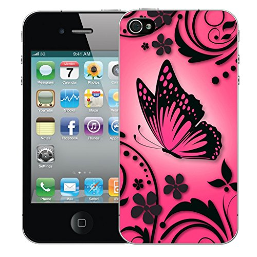 Mobile Case Mate iPhone 5c Silicone Coque couverture case cover Pare-chocs + STYLET - Pink Caress pattern (SILICON)