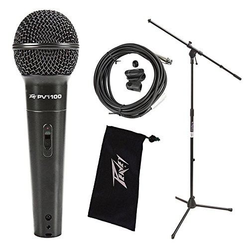 Peavey Pvi 100 Dynamic Vocal Cardiod Microphone Including On Stage Boom Microphone Stand ()