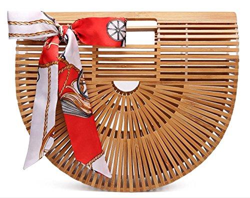 9c9f83705 Obosoyo Women's Handmade Bamboo Handbag Summer Beach Sea Tote Bag ...