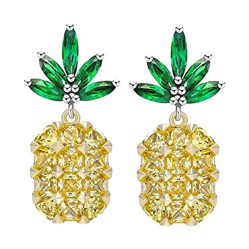 HOMEJU 925 Sterling Silver Pineapple Earrings Fashion Simple