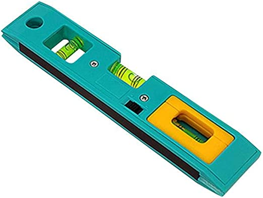 Mini Home Scale Ruler for Water Precision High Precision Blue Chirsemey Magnetic Spirit Level Ruler