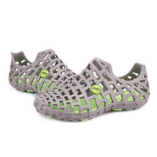 Out Sandales Chaussures Gris Trous amp; Respirantes Été Gris Femmes Hommes 9 Creux Bluelover Plage Trou txz4nw0qf