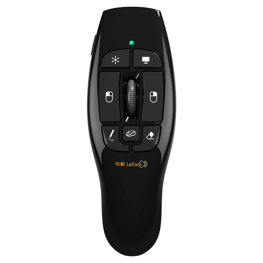 Lefant F8 2.4GHz Wireless Remote Presenter with Red Laser Pointer Air Mouse with Scroll Wheel for PPT Keynote Presentation