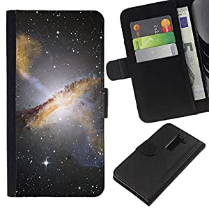 """Be-Star la tarjeta de Cr¨¦dito Slots PU Funda de cuero Monedero caso cubierta de piel Para LG G2 D800 ( Estrellas del cielo nocturno Hubble Ver fotos Galaxy Amarillo"""" )"""
