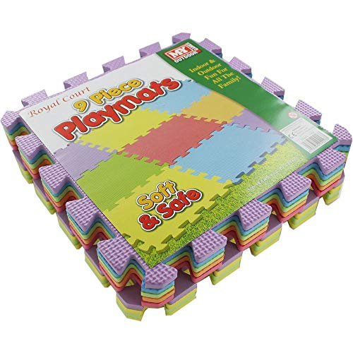 Foam Play Mat 9pc Multi Colour 29x29cm Tiles NEW!!