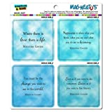 Graphics and More Gandhi Inspirational Quotes Mag-Neato's Automotive Car Refrigerator Locker Vinyl Magnet Set
