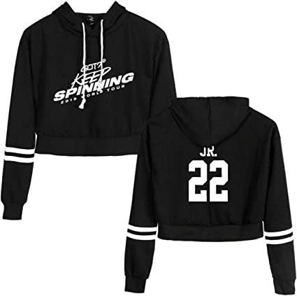 GOT7 Keep Spinning Crop Top Sudaderas con Capucha y Tops de Manga ...