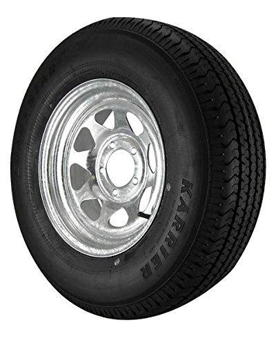 ST215/75R14 Loadstar Trailer Tire LRC on 5 Bolt Galvanized Spoke Wheel