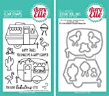 Avery Elle - Glamper Campers Clear Stamps and Dies Set - 2 item bundle