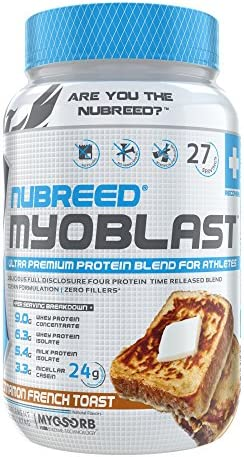 Nubreed MYOBLAST Cinnamon French Toast Ultra Premium Protein Blend 27 Servings