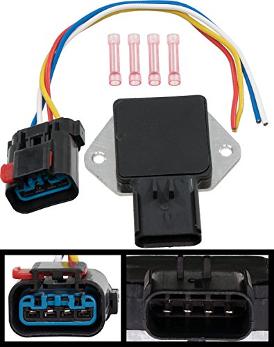 Country Radiator Fan Replacement (APDTY 013414 Radiator Fan Control Relay w/ Wire Wiring Harness Pigtail Connector (Note: If Melting Occurred, Radiator Fan Replacement Is Usually Also Neccesary, Replaces OE 5017491AB, 4897034AA))