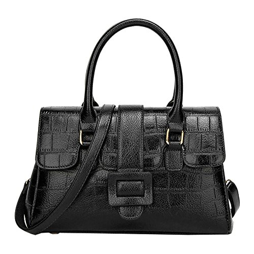 Black Bag Women Pu Handbag Large Handle Leather Tote Top For Fashion Multicolor Bag Lady Zipper Shoulder Crossbody qagTWACxCw