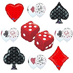 CASINO NIGHT Cards and Dice Party Supplies and Balloon decorations