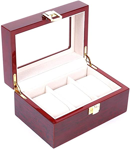 Inicio del reloj del almacenaje del caso de exhibición Organizador ...