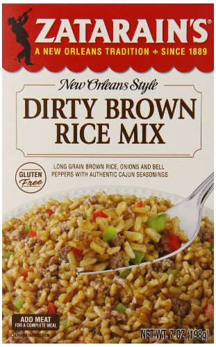Zatarain's Dirty Brown Rice Mix, 7 oz (Case of 12)