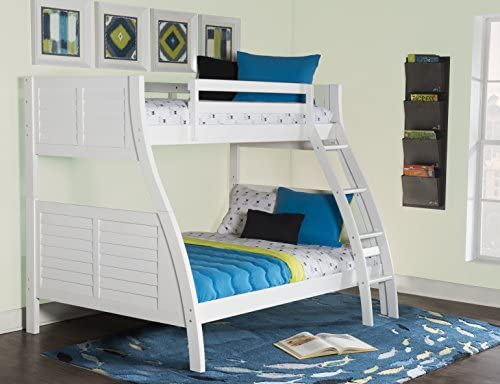 Powell Furniture Easton, White Bunk Bed, : Buy Online at Best