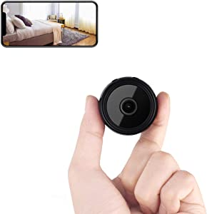 Mini Spy Camera Wireless Hidden Camera Home WiFi Security Nanny Cameras with Cell Phone App 1080P Motion Detection