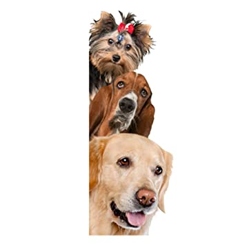 Amazon Com Removable 3d Cute Dog Cat Wall Sticker Switch Decal