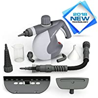 PurSteam Handheld Pressurized Steam Cleaner with 9-Piece Accessory Set - Multi-Purpose and Multi-Surface All Natural, Chemical-Free Steam Cleaning for Home, Auto, Patio, & More