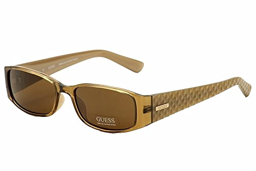 94d7924e108ca Amazon.com  Guess Plastic Frame Brown Lens Ladies Sunglasses ...