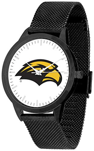 (Southern Mississippi Eagles - Mesh Statement Watch - Black Band - Black Dial)