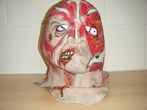 WRESTLING MASKS UK Mexican Wrestler Zombie Horror Deluxe Halloween Full Head Fancy Costume Mask ()