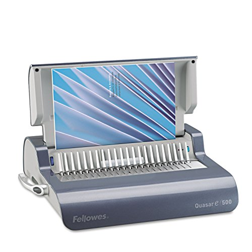 Fellowes Quasar E 500 Electric Comb Binding Machine - Electrical - CombBind - 500 Sheet(s) Bind - 20 Punch - 5.1