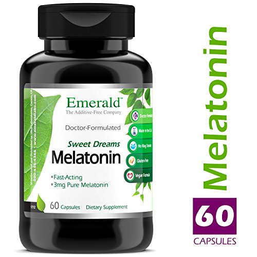 Melatonin (3 mg) - Promotes Relaxation & Healthy Sleep Patterns, More Energy, Better Overall Health - Emerald Laboratories (Sweet Dreams) - 60 Capsules