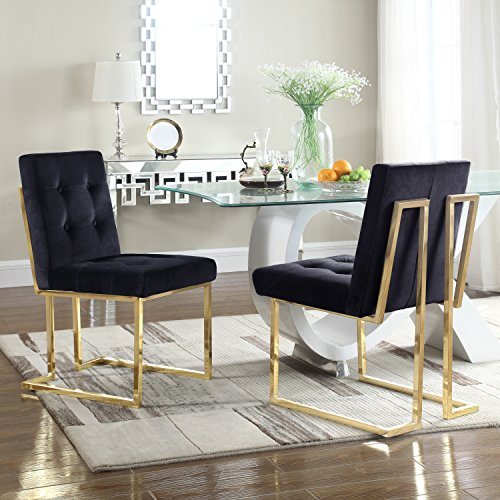 Dining Chairs With Brass Metal Legs