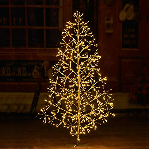 LIGHTSHARE 4ft 496L Artificial Christmas Tree Light,Warm White Light for Home Garden Decoration,Winter,Wedding,Birthday,Christmas,Holiday,Party Decoration,Gold from LIGHTSHARE