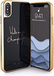 Ted Baker Fashion HD Glass Case for iPhone X/XS, Protective Cover for iPhone
