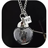 Foreverstore Dandelion Necklace Make a Wish Dandelion Seed in Glass Sphere Eco Friendly