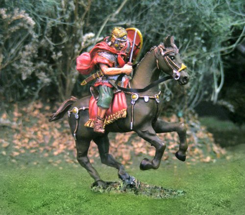 Roman Toy Soldiers Cavalry Slashing Collectors Showcase Toy Soldiers Painted Metal Figure 54mm-56mm CS00734