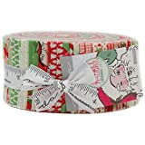 Swell Christmas Jelly Roll with 40, 2.5'' Precut Strips from Moda