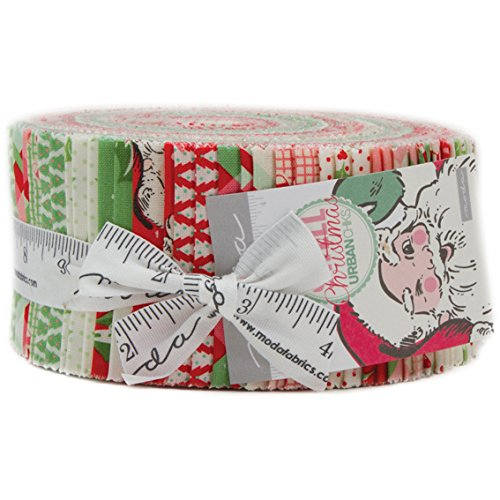 Swell Christmas Jelly Roll with 40, 2.5'' Precut Strips from Moda by Moda Fabrics
