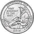 2016 S Silver Proof Cumberland Gap National Park NP Quarter Choice Uncirculated US Mint