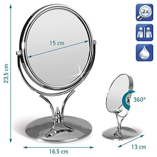 Tatkraft Aphrodite Double Sided Swivel Mirror for Makeup & S