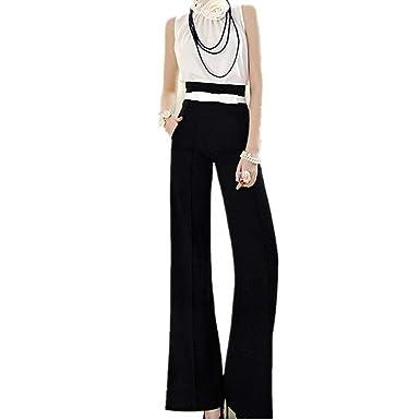 2d259ddd48f33 Pantalon Large Femme Long Elégante Automne Taille Haute Pantalons Palazzo  Fashion Moderne Fille Vêtements Dame Slim