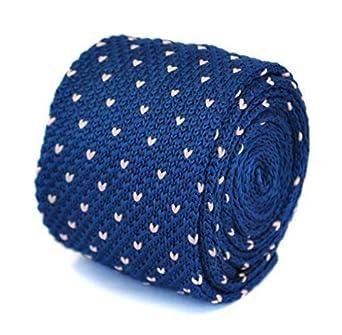 Frederick Thomas Azul Marino Azul y rosa pin Puntos Corbata De ...