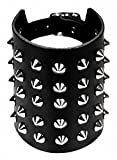 Search : Punk Wristband 5 Rows Pointed Studs