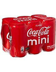 Coca-Cola Classic Mini Cans, 180ml, (Pack of 24)