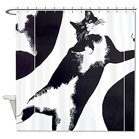 whiangfsoo elegante gatos para colorear dibujos casa decro baño cortina de ducha, #7,