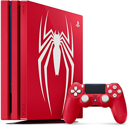 Playstation 4 Pro 1TB SSD Limited Edition Console – Marvels Spider-Man Bundle Enhanced with Fast Solid State Drive
