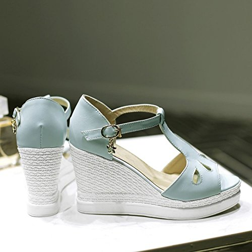 Sandali Zeppa Zanpa Blue Tacco Moda Donna wxPSS0qUI4