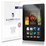 iLLumiShield - Amazon Kindle Fire HDX 7 Screen Protector Ultra Clear HD Film with Anti-Bubble and Anti-Fingerprint – High Quality Invisible LCD Shield – Lifetime Replacement Warranty – [3-Pack]